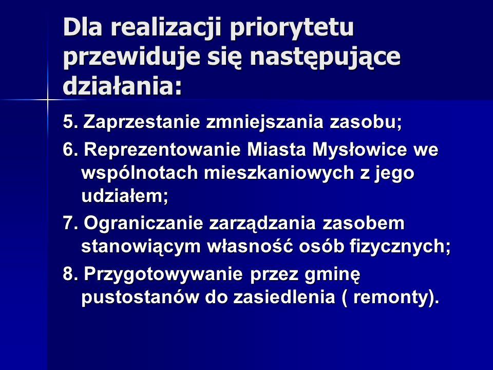 Dla realizacji priorytetu przewiduje się następujące działania: