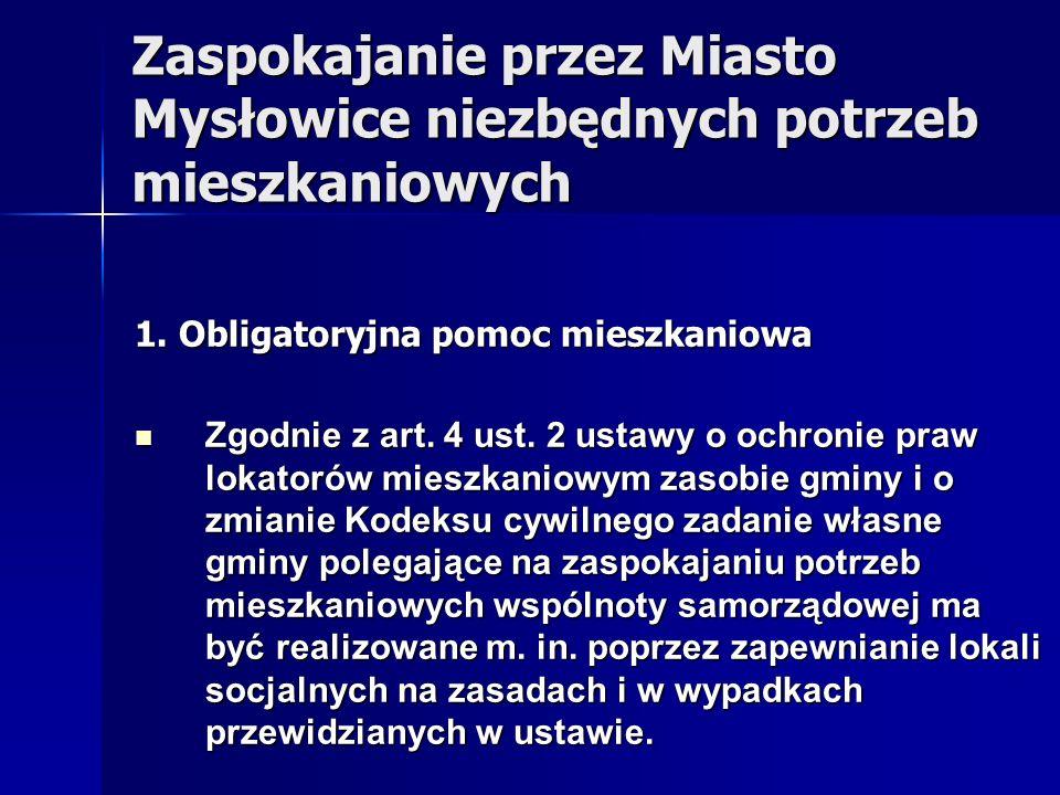 Zaspokajanie przez Miasto Mysłowice niezbędnych potrzeb mieszkaniowych