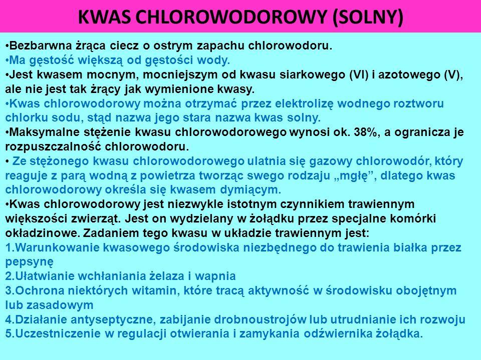 KWAS CHLOROWODOROWY (SOLNY)
