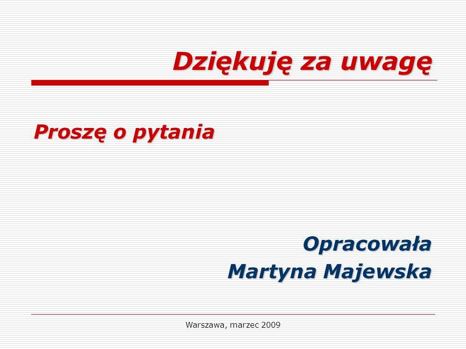 Dziękuję za uwagę Proszę o pytania Opracowała Martyna Majewska
