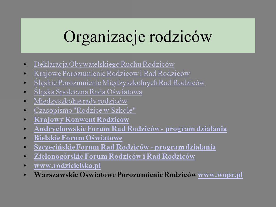Organizacje rodziców Deklaracja Obywatelskiego Ruchu Rodziców