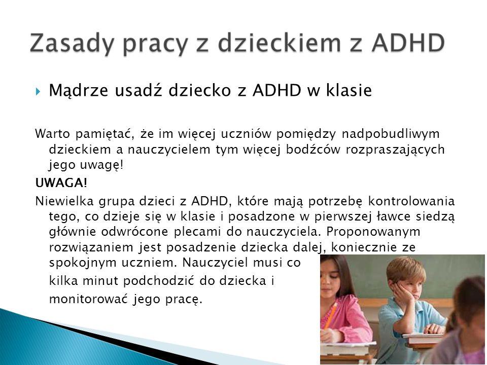 Mądrze usadź dziecko z ADHD w klasie