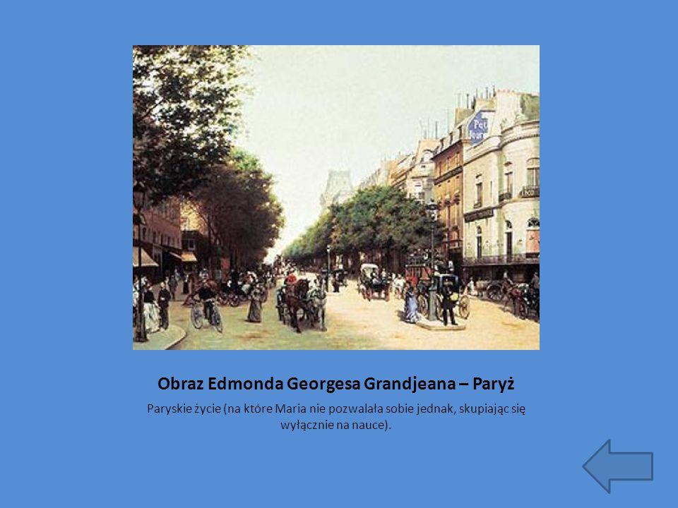 Obraz Edmonda Georgesa Grandjeana – Paryż
