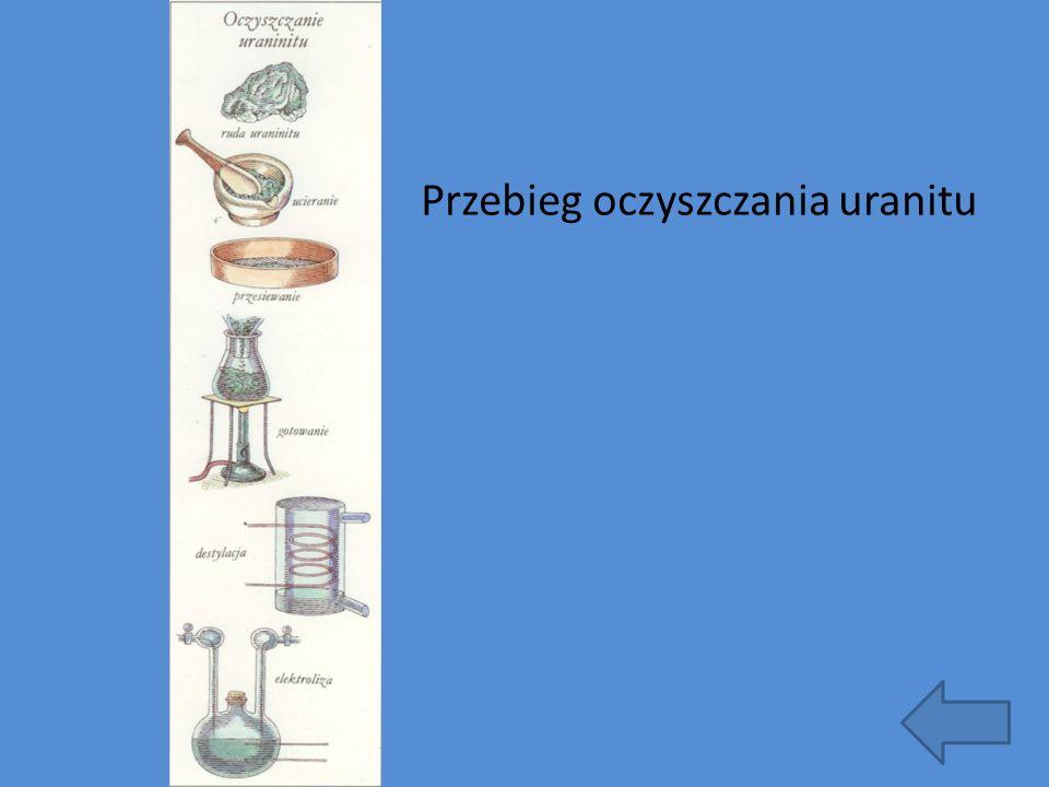 Przebieg oczyszczania uranitu