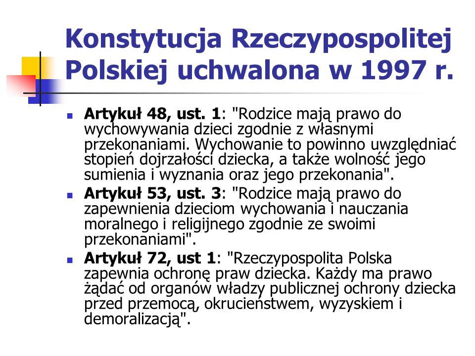 Konstytucja Rzeczypospolitej Polskiej uchwalona w 1997 r.