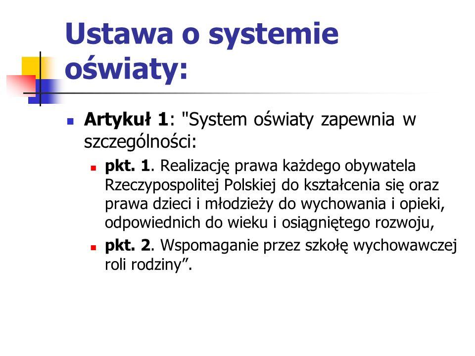 Ustawa o systemie oświaty: