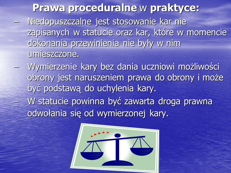 Prawa proceduralne w praktyce: