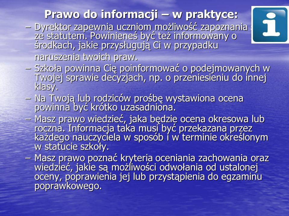 Prawo do informacji – w praktyce: