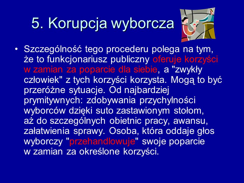 5. Korupcja wyborcza