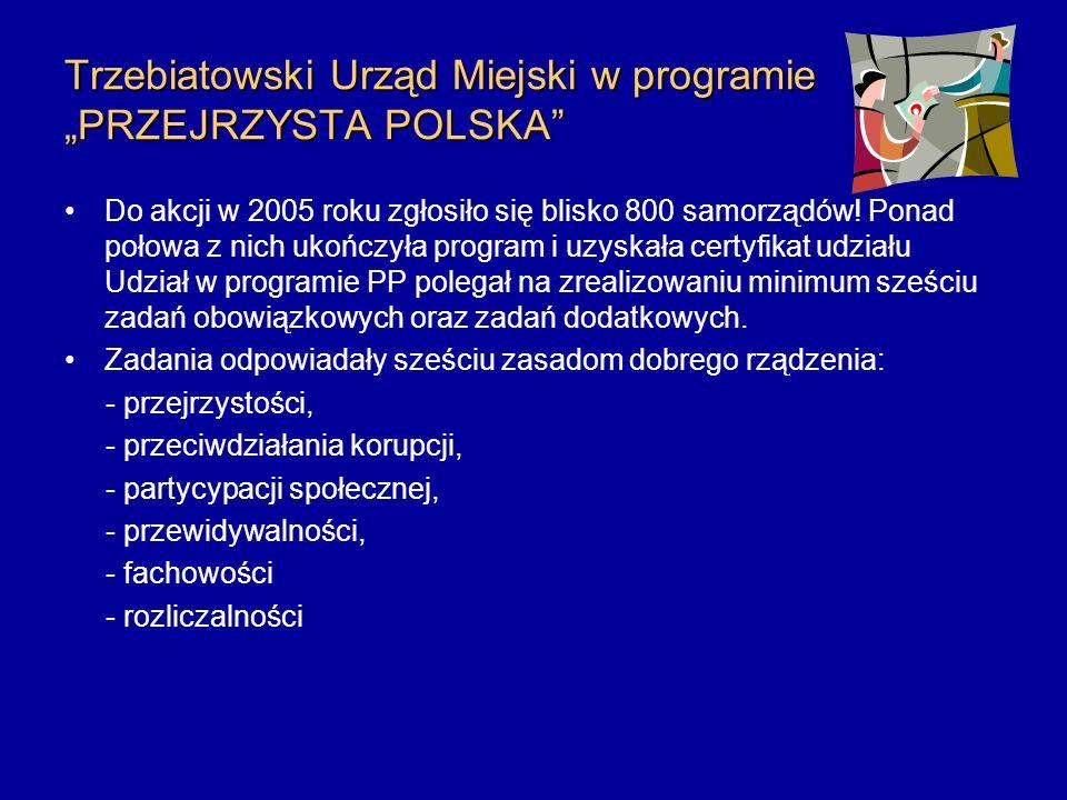 """Trzebiatowski Urząd Miejski w programie """"PRZEJRZYSTA POLSKA"""