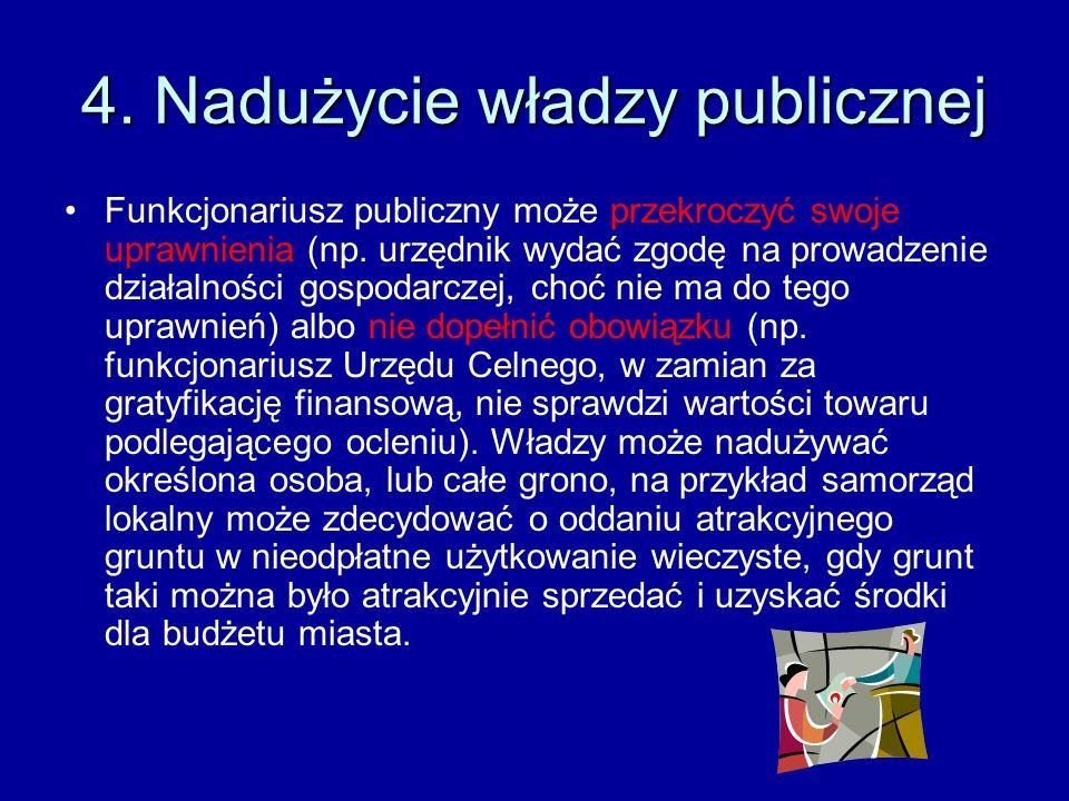 4. Nadużycie władzy publicznej