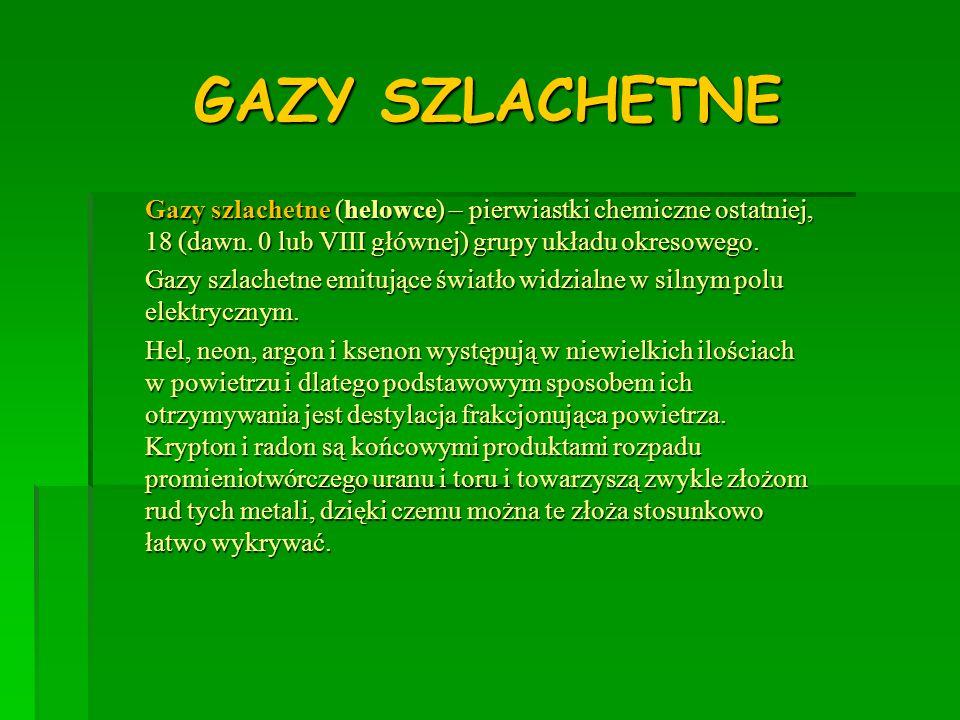 GAZY SZLACHETNE
