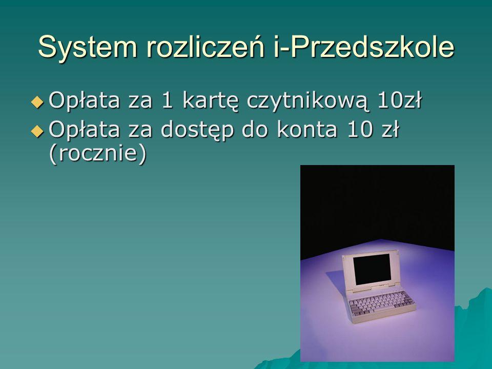 System rozliczeń i-Przedszkole