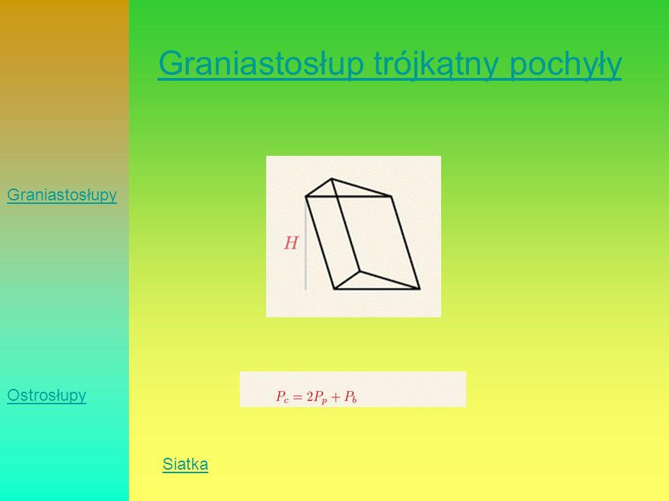 Graniastosłup trójkątny pochyły