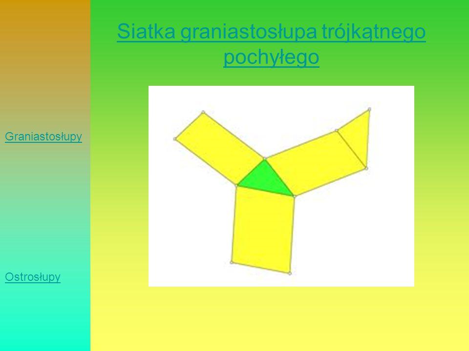 Siatka graniastosłupa trójkątnego pochyłego