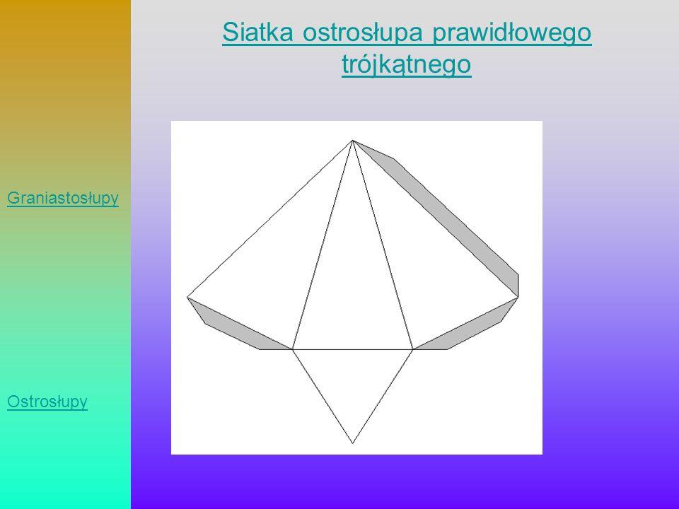 Siatka ostrosłupa prawidłowego trójkątnego