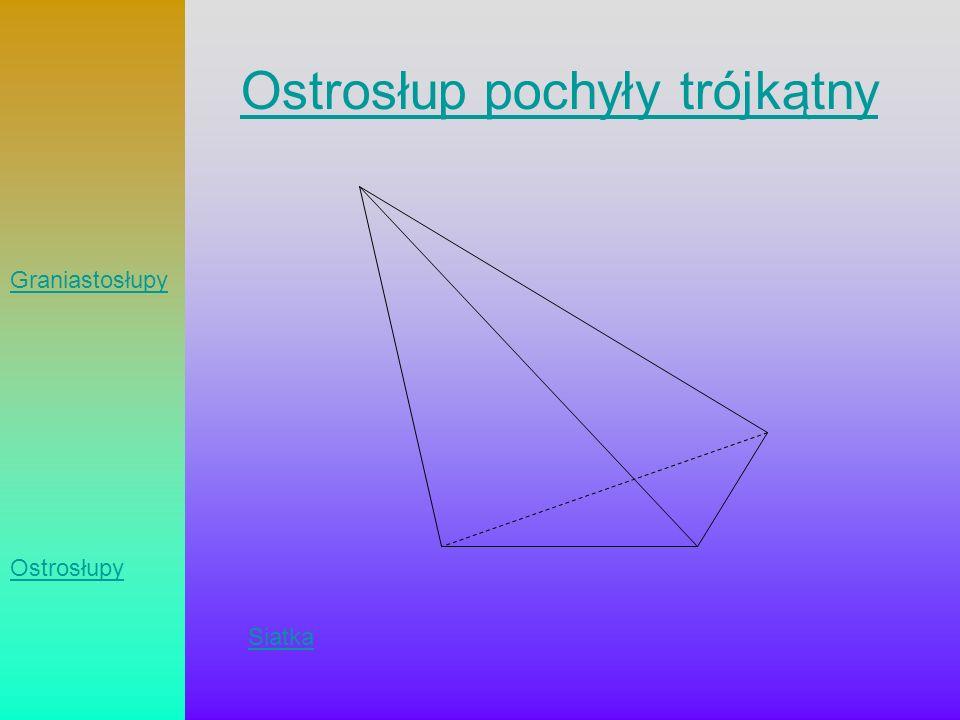 Ostrosłup pochyły trójkątny