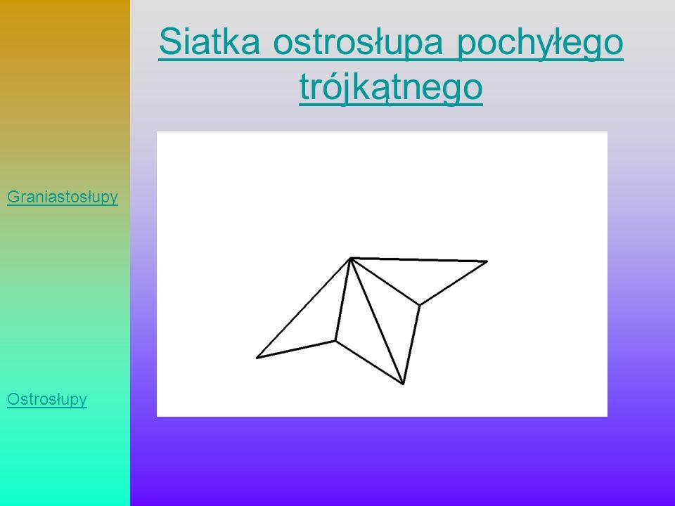 Siatka ostrosłupa pochyłego trójkątnego