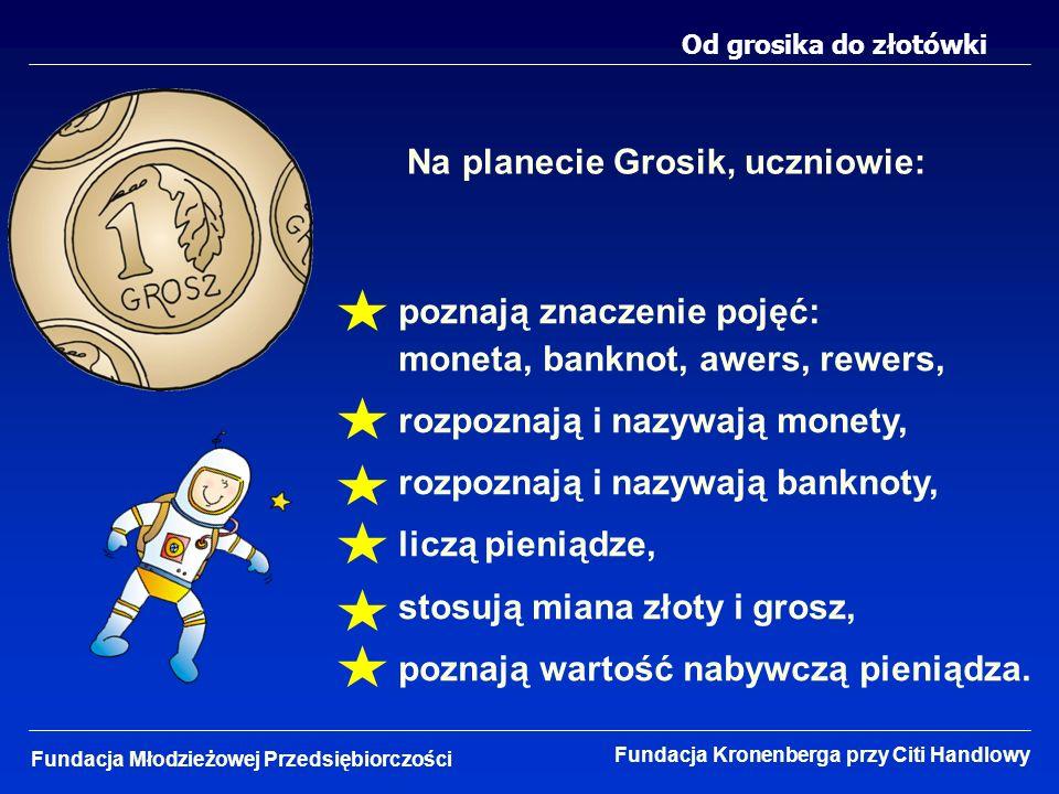 Na planecie Grosik, uczniowie:
