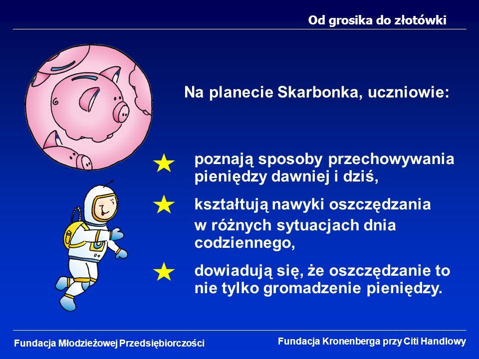 Na planecie Skarbonka, uczniowie: