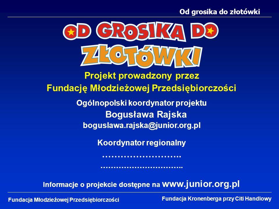 Projekt prowadzony przez Fundację Młodzieżowej Przedsiębiorczości