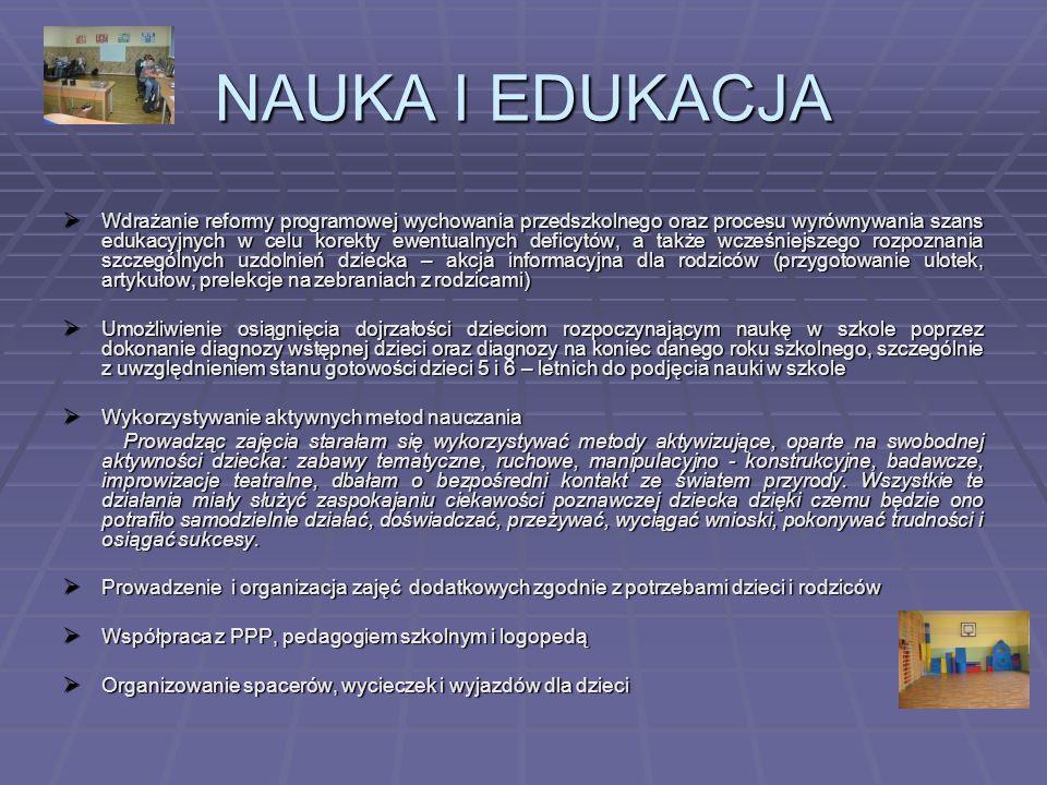 NAUKA I EDUKACJA