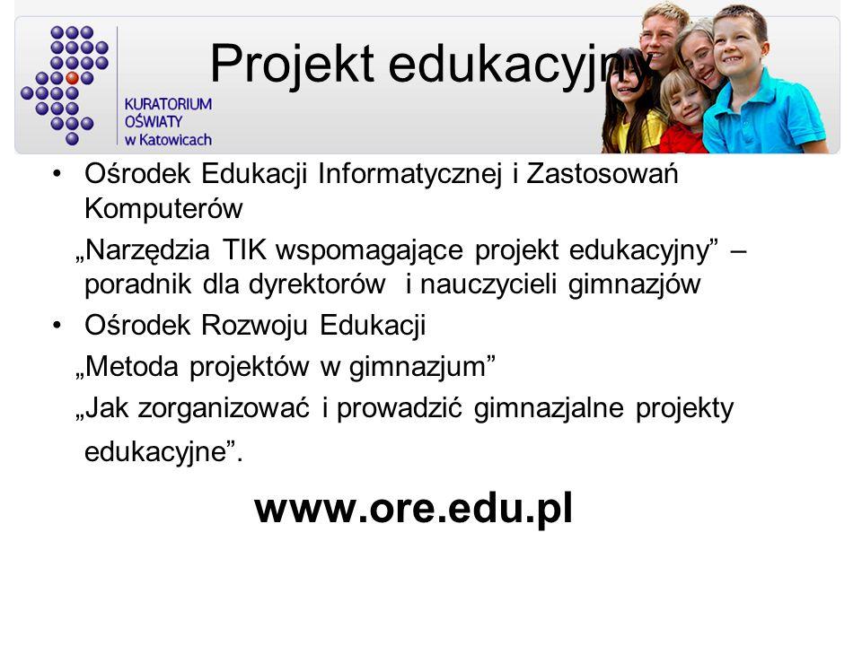 Projekt edukacyjny www.ore.edu.pl