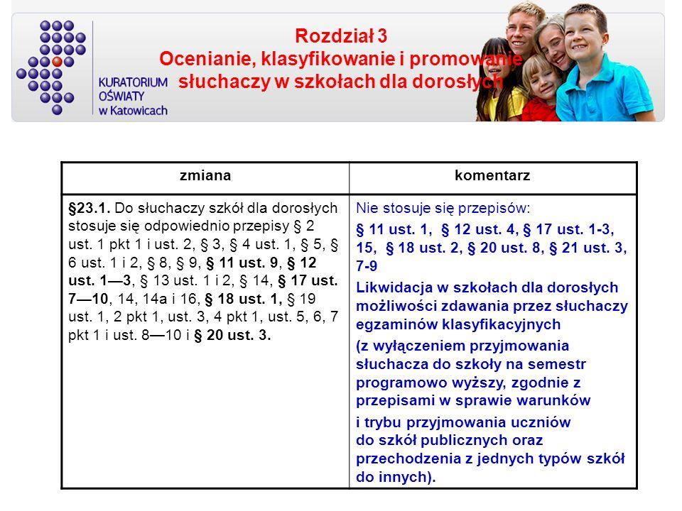 Rozdział 3 Ocenianie, klasyfikowanie i promowanie słuchaczy w szkołach dla dorosłych