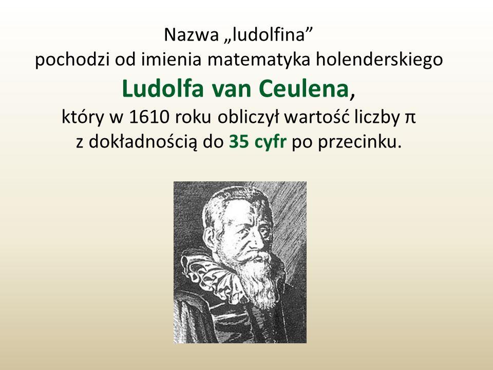 pochodzi od imienia matematyka holenderskiego Ludolfa van Ceulena,