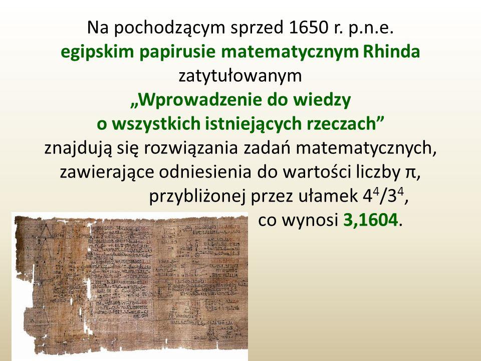 Na pochodzącym sprzed 1650 r. p.n.e.