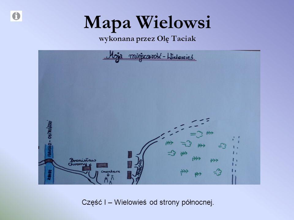 Mapa Wielowsi wykonana przez Olę Taciak