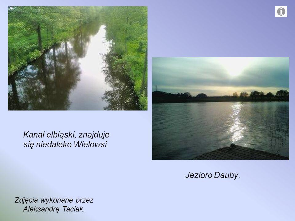 Kanał elbląski, znajduje się niedaleko Wielowsi.