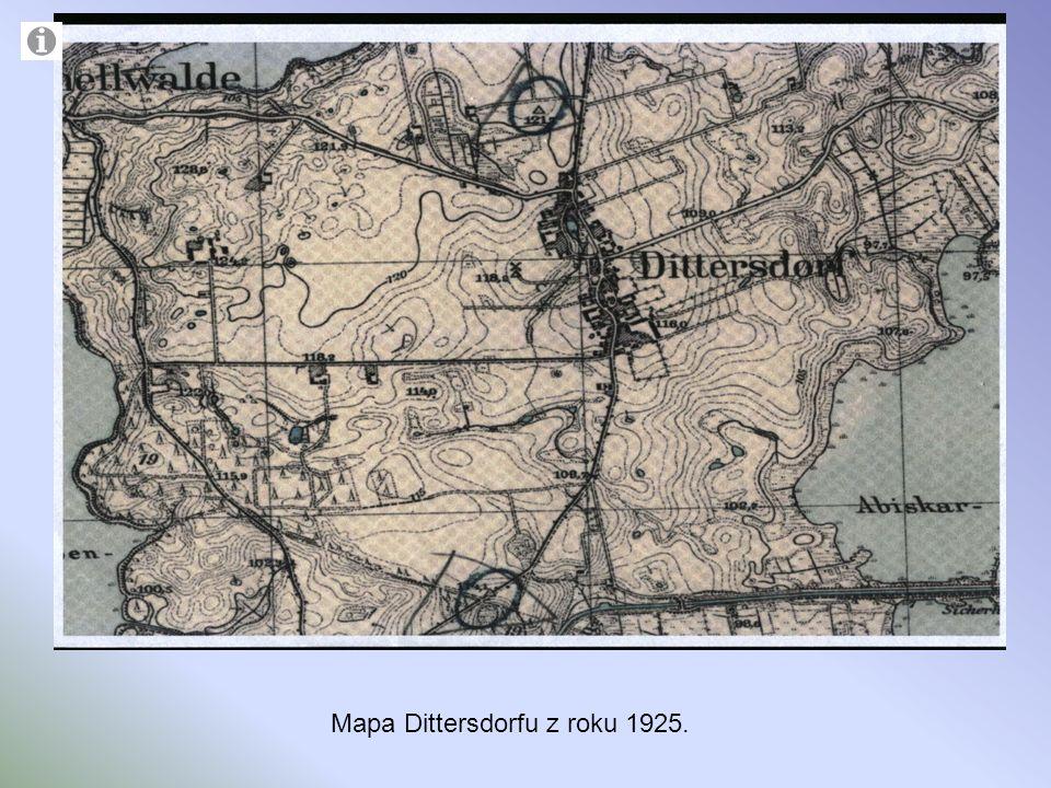 Mapa Dittersdorfu z roku 1925.