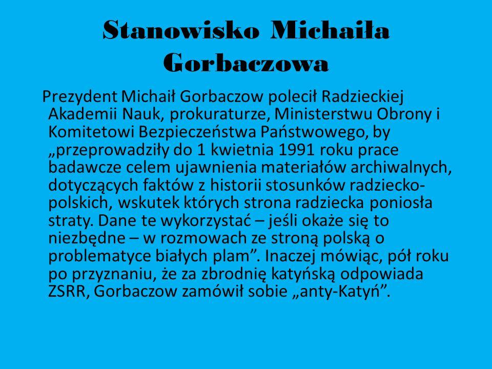 Stanowisko Michaiła Gorbaczowa