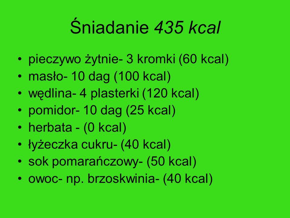 Śniadanie 435 kcal pieczywo żytnie- 3 kromki (60 kcal)