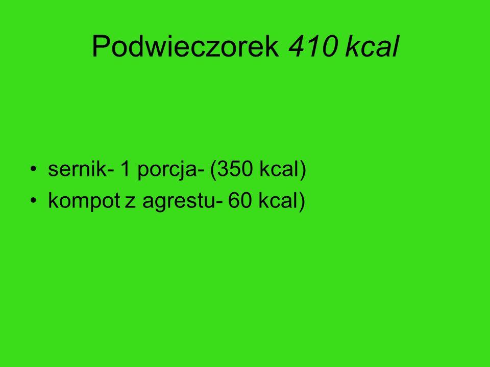 Podwieczorek 410 kcal sernik- 1 porcja- (350 kcal)