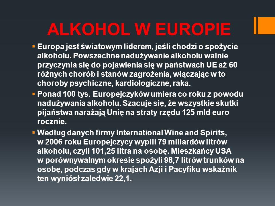 ALKOHOL W EUROPIE