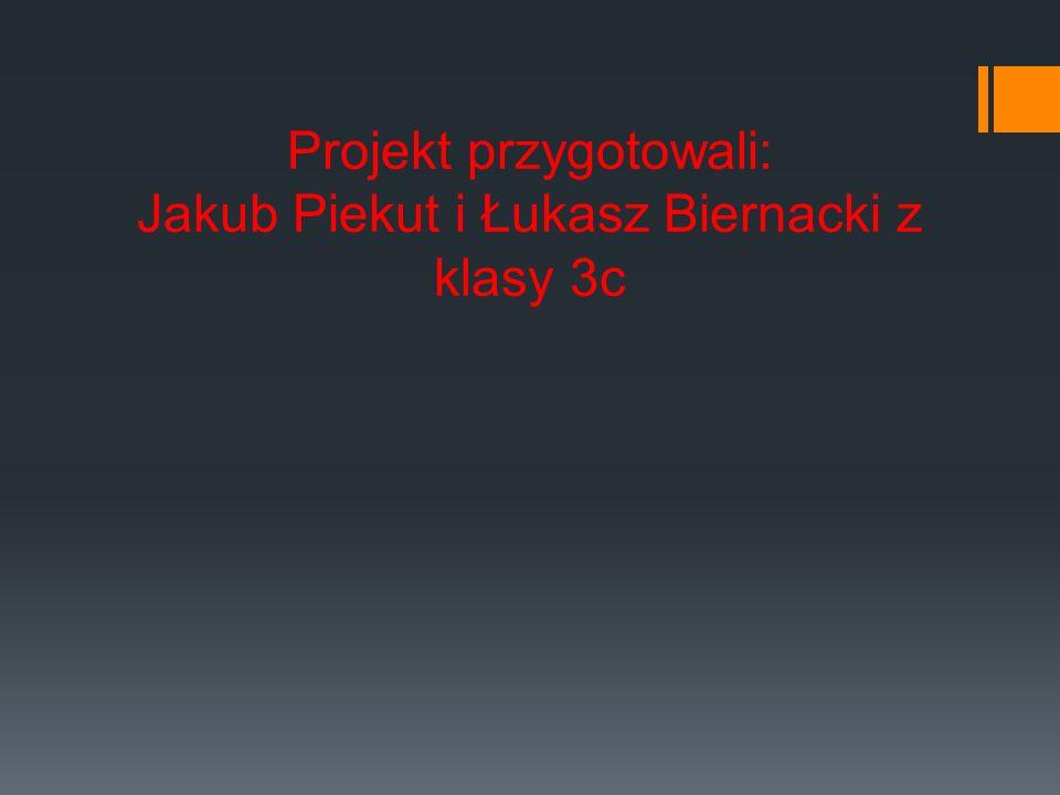Projekt przygotowali: Jakub Piekut i Łukasz Biernacki z klasy 3c