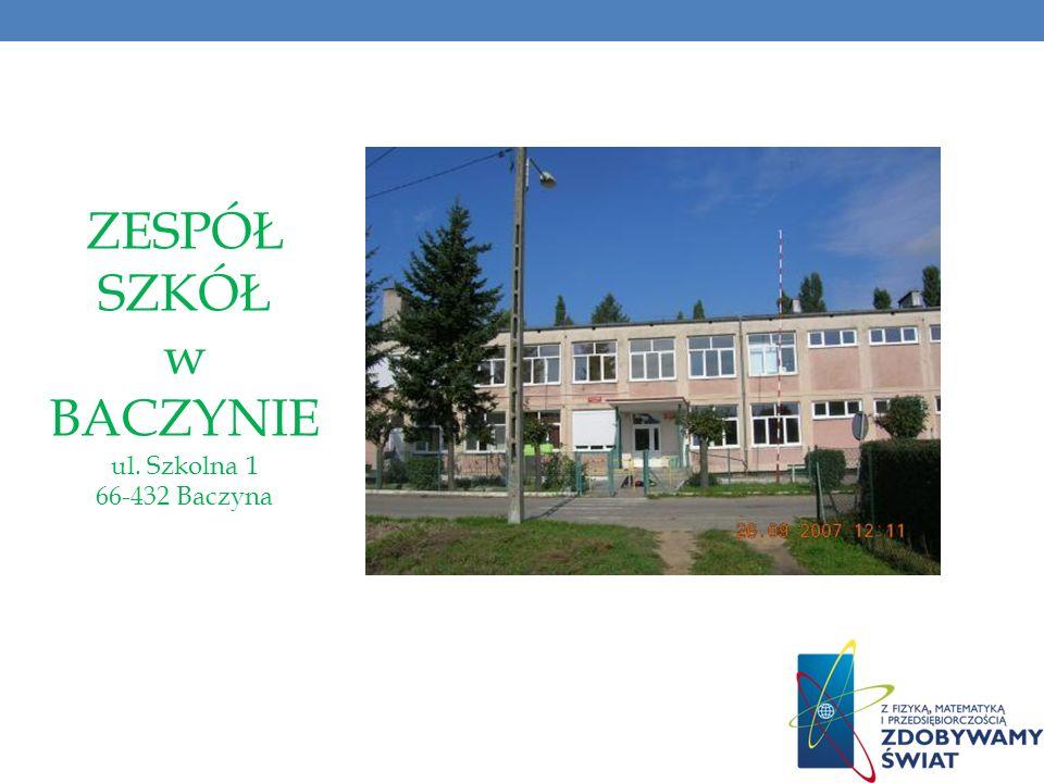 ZESPÓŁ SZKÓŁ w BACZYNIE ul. Szkolna 1 66-432 Baczyna