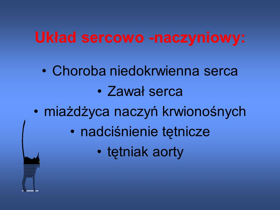 Układ sercowo -naczyniowy: