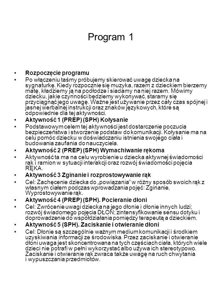 Program 1 Rozpoczęcie programu