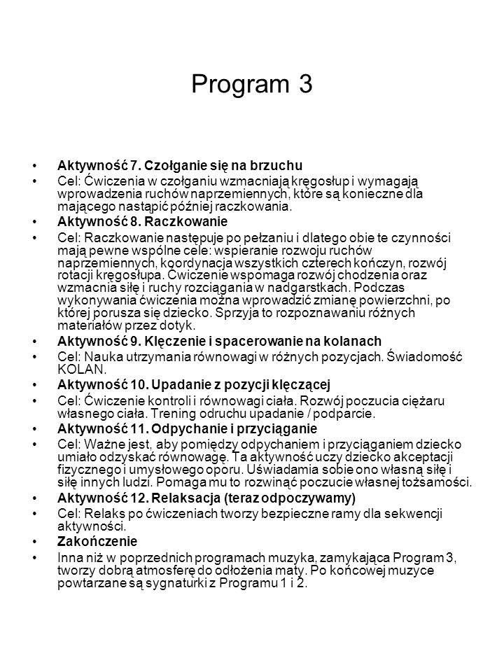 Program 3 Aktywność 7. Czołganie się na brzuchu