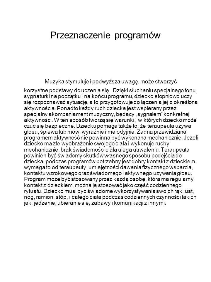 Przeznaczenie programów