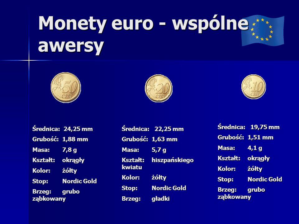 Monety euro - wspólne awersy