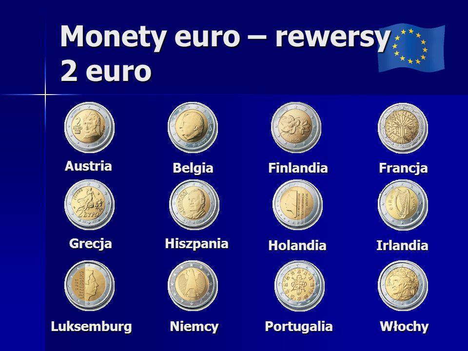 Monety euro – rewersy 2 euro