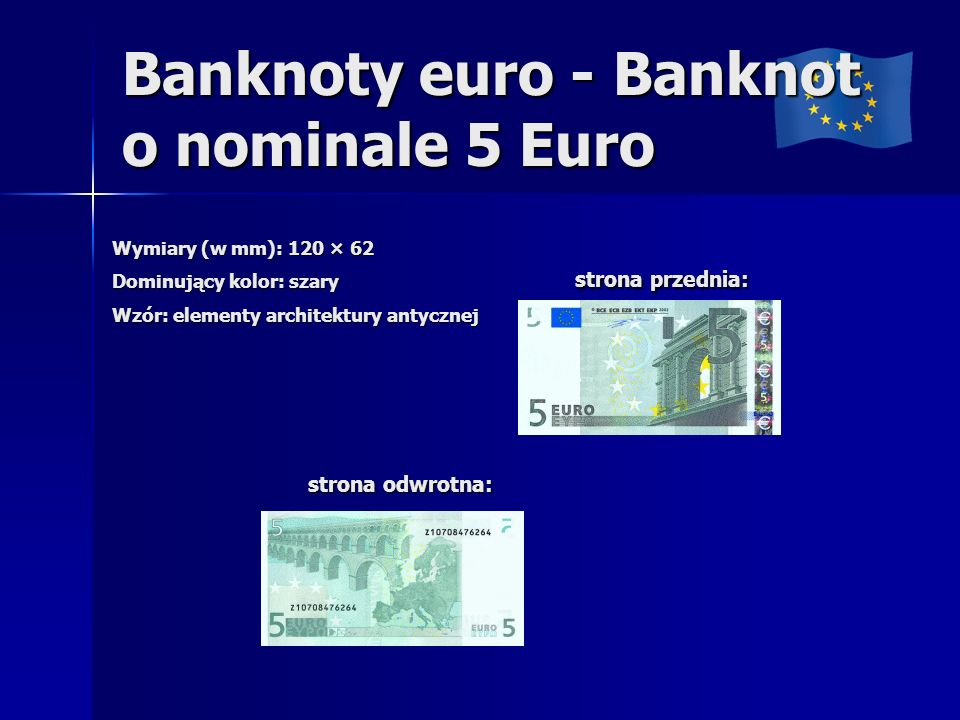 Banknoty euro - Banknot o nominale 5 Euro