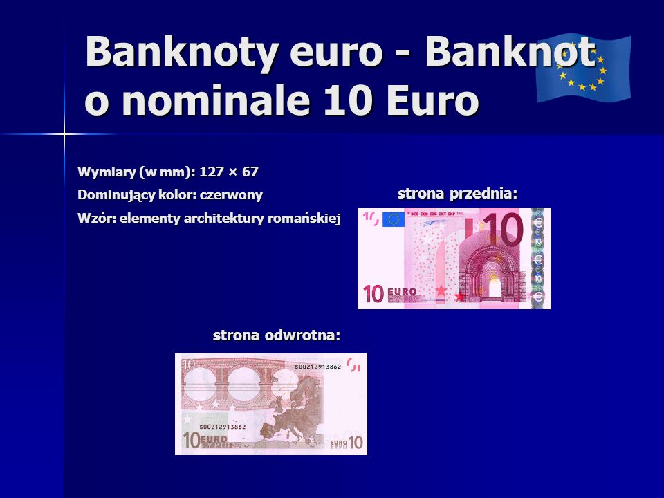 Banknoty euro - Banknot o nominale 10 Euro