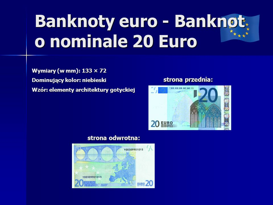 Banknoty euro - Banknot o nominale 20 Euro