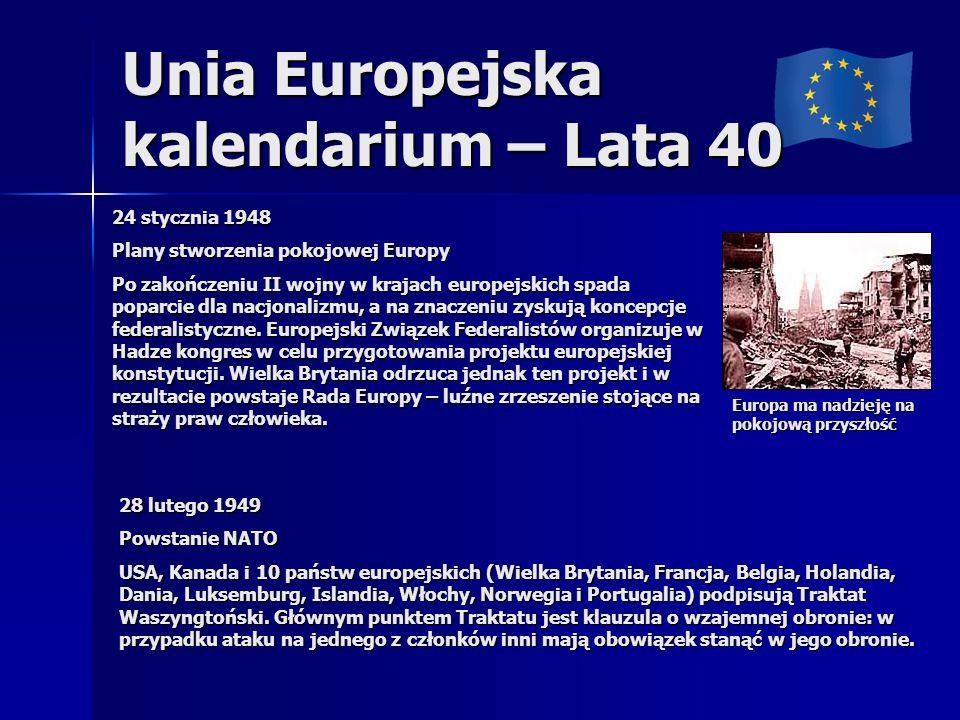 Unia Europejska kalendarium – Lata 40