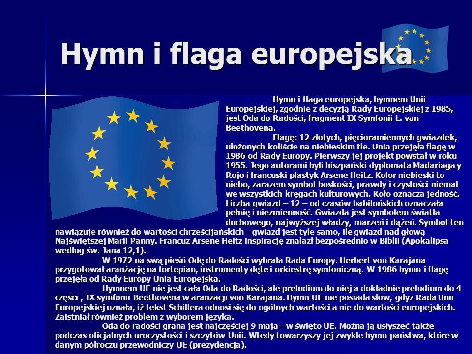 Hymn i flaga europejska